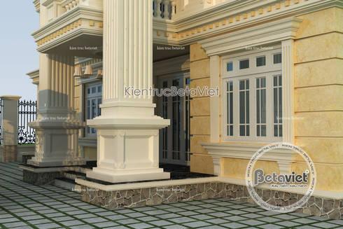 Phối cảnh mẫu biệt thự kiểu Pháp tân cổ điển 3 tầng KT16061:   by Công Ty CP Kiến Trúc và Xây Dựng Betaviet