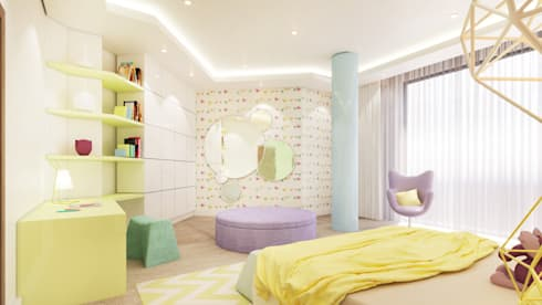 Girls Bedroom 5 Years: modern Bedroom by Dessiner Interior Architectural