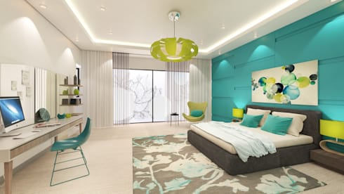 Girl's bedroom 15 Years: modern Bedroom by Dessiner Interior Architectural