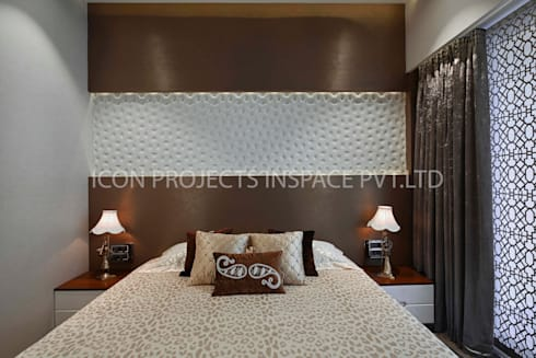 2BHK Residence: modern Bedroom by icon projects inspace pvt ltd