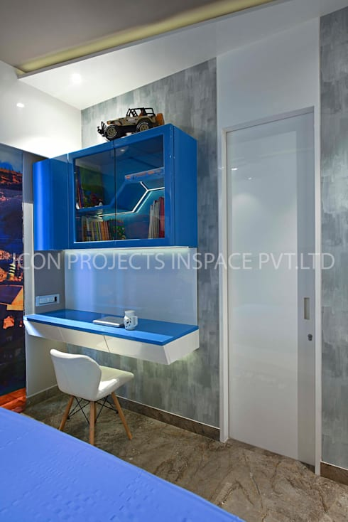 2BHK Residence: modern Nursery/kid's room by icon projects inspace pvt ltd