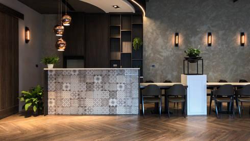咖啡吧台:  餐廳 by 見和空間設計