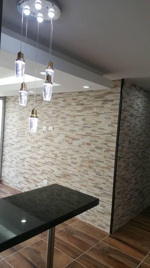 Diseño de interiores cojunto Fortezza Ibagué – Tolima: Paredes de estilo  por LH INGENIERÍA 'Construcciones para la Vida'