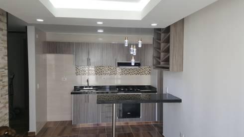 Diseño de interiores cojunto Fortezza Ibagué – Tolima: Cocina de estilo  por LH INGENIERÍA 'Construcciones para la Vida'