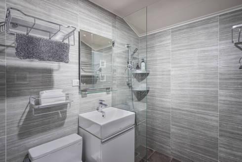 新竹自強路 黎公館:  浴室 by 築室室內設計