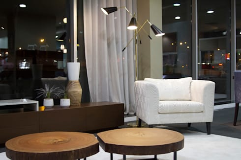 Living Room: mediterranean Living room by Alfaiate d'Interiores
