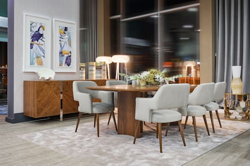 Dining Rooms: modern Dining room by Alfaiate d'Interiores