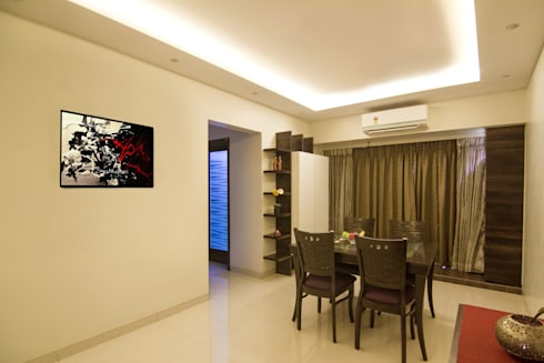 3 BHK at Borivali: modern Dining room by A Design Studio
