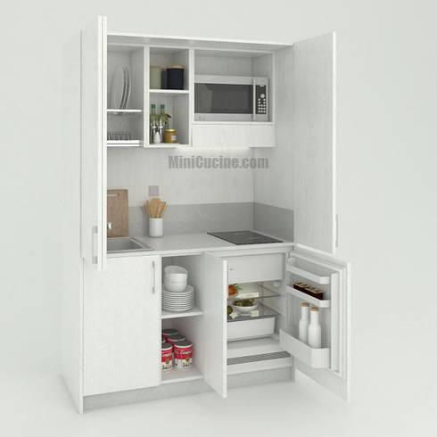 Mini Cucina a scomparsa con chiusura ante a libro di Minicucine ...