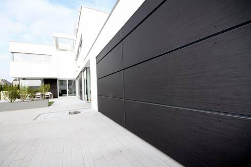 trespa verkleidung garage fassade von gerber ingenieure. Black Bedroom Furniture Sets. Home Design Ideas