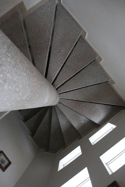 Escalera de concreto: Escaleras de estilo  por Arquitectura Orgánica Viviana Font