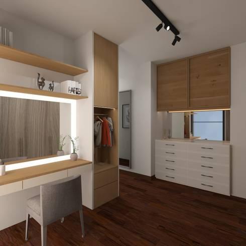 Walk in Closet:  Ruang Ganti by Noff Design