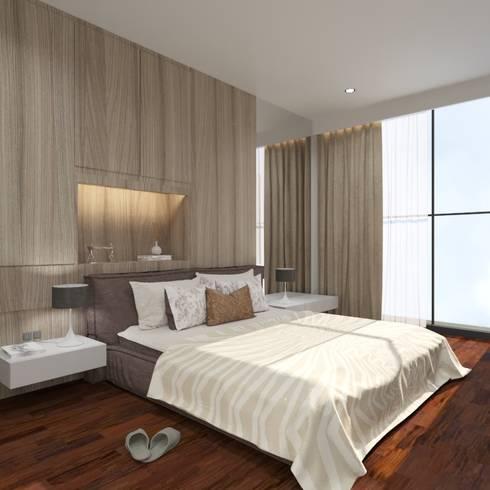 Master Bedroom:  Kamar Tidur by Noff Design