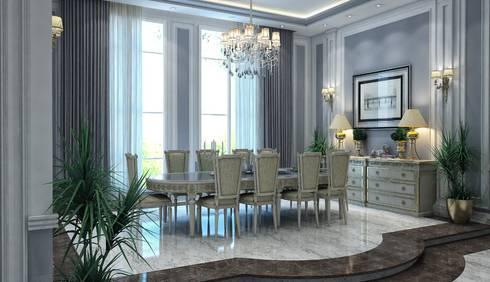 غرفة السفرة تنفيذ بازار للتصميم الداخلي