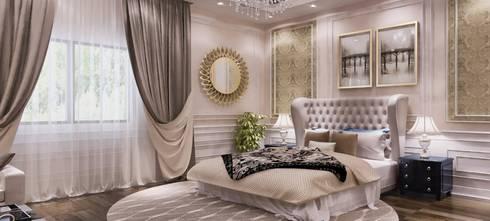 غرفة نوم تنفيذ بازار للتصميم الداخلي