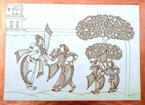 Traditional:  Artwork by Indian Art Ideas