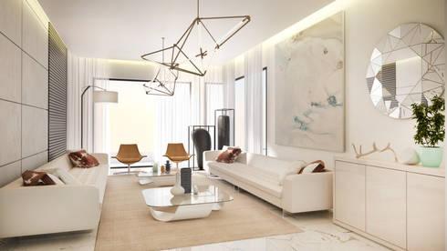 Formal Lounge: modern Living room by Dessiner Interior Architectural