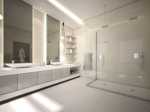 En Suite Bathroom: modern Bathroom by Dessiner Interior Architectural