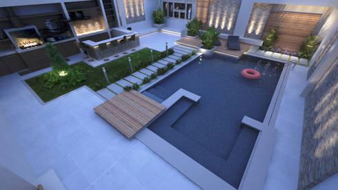 Garden Pool by TK Designs