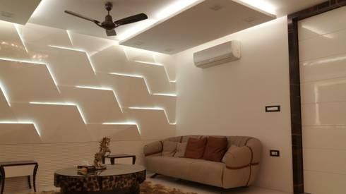 Livingroom wall panel: modern Living room by sapphire studio
