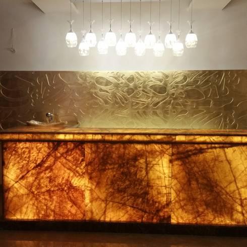 Bar table: mediterranean Wine cellar by sapphire studio
