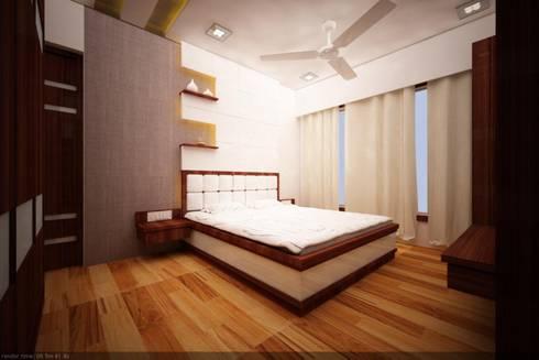 bedroom:   by omkarcreateurs