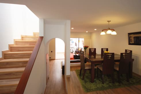Casa Gallego Urrego: Comedores de estilo moderno por AMR estudio