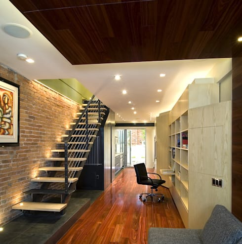 Foggy Bottom House:  Stairs by KUBE Architecture