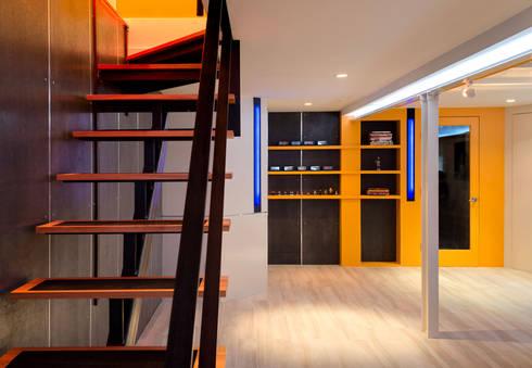 Warren Street:  Stairs by KUBE Architecture