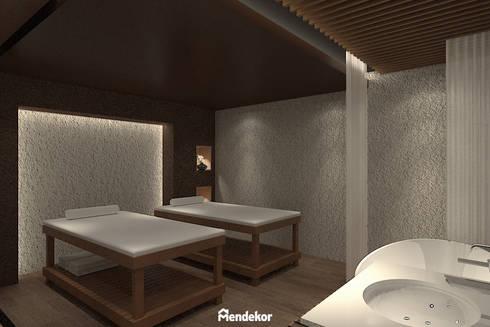 Spa Room:  Ruang Komersial by Mendekor