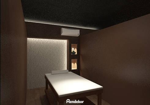 Single Massage Room:  Ruang Komersial by Mendekor