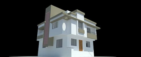 Bunglow project with 3D Rendering:   by Kiana Structures
