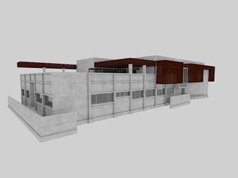 Edificio Geología Universidad de Atacama: Casas de estilo moderno por SINTESIS arquitecto & asociados