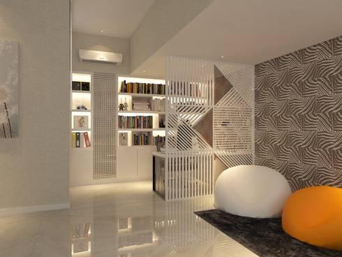 PRIVATE RESIDENTIAL @ NAVAPARK, BSD CITY, TANGERANG:  Ruang Kerja by PT. Dekorasi Hunian Indonesia (D&H Interior)