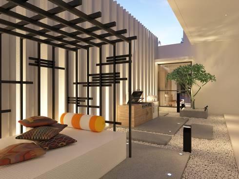 PRIVATE RESIDENTIAL @ NAVAPARK, BSD CITY, TANGERANG:  Taman by PT. Dekorasi Hunian Indonesia (D&H Interior)