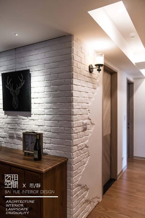 百玥空間設計 ─ 思/靜 ─ 走廊:  走廊 & 玄關 by 百玥空間設計