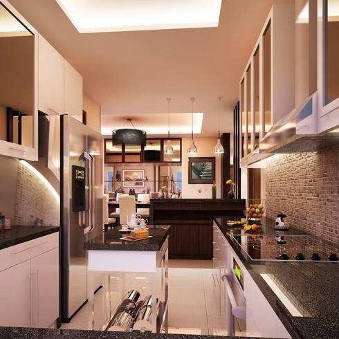 Mr. & Mrs. P Residence: modern Kitchen by TWINE Interior Design Studio