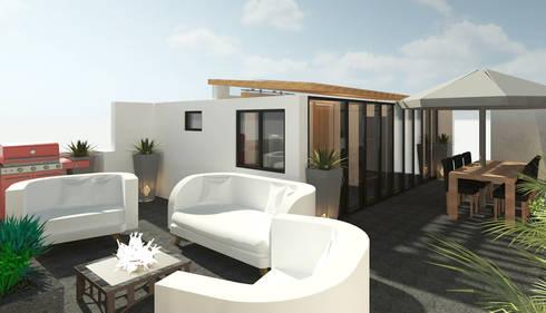 Terrazas  de estilo  por Perfil Arquitectónico