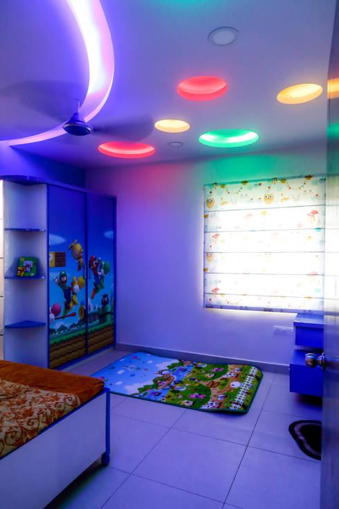 Mr. Amit Rainbow vistas:   by Ghar Ek Sapna Interiors