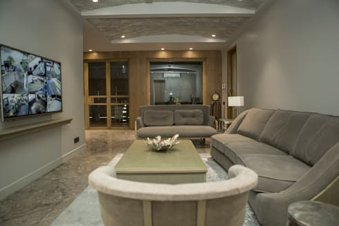 Drawing room : view 2: modern Living room by DESIGNER'S CIRCLE