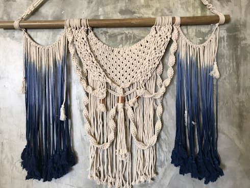 WALL HANGING: rustic Dining room by COPPER FRINGE