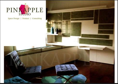 HNI residential: modern Living room by  PINKAPPLE