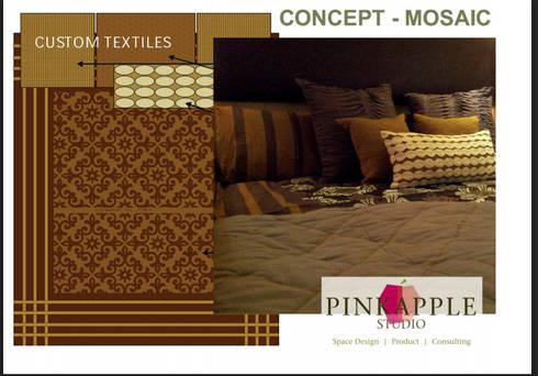 HNI residential: modern Bedroom by  PINKAPPLE