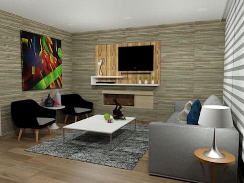propuesta de decoración interior: Comedor de estilo  por Omar Plazas Empresa de  Diseño Interior, remodelacion, Cocinas integrales, Decoración