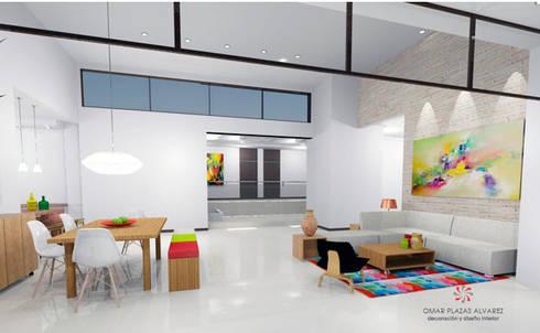 Salas moderna:  de estilo  por Omar Plazas Empresa de  Diseño Interior, remodelacion, Cocinas integrales, Decoración