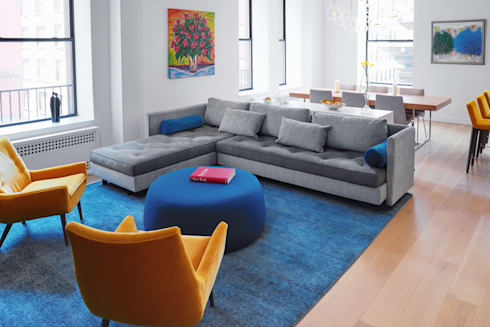 Tribeca Apartment: modern Living room by Sarah Jefferys Design