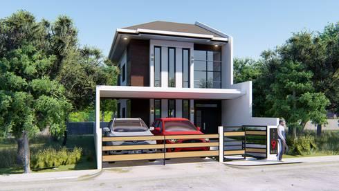2 STOREY CHIUTEN HOUSE: modern Houses by Yaoto Design Studio