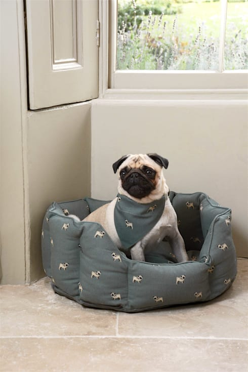 Sophie Allport Pug Bed and Neckerchief:  Household by Sophie Allport