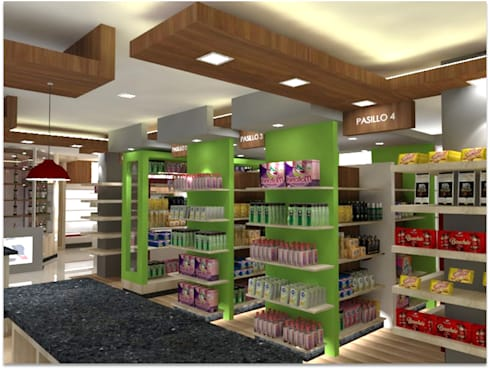 Deli Market: Espacios comerciales de estilo  por SCABA EQUIPAMIENTO Y ARQUITECTURA COMERCIAL , C.A.