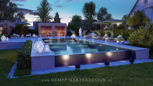 Moderne Gartengestaltung Mit Pool. Beispiel ...